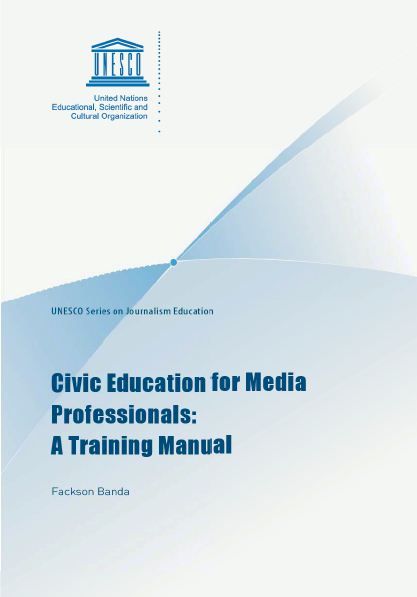 Civic education for media professionals a training manual – Training Manual Cover Page