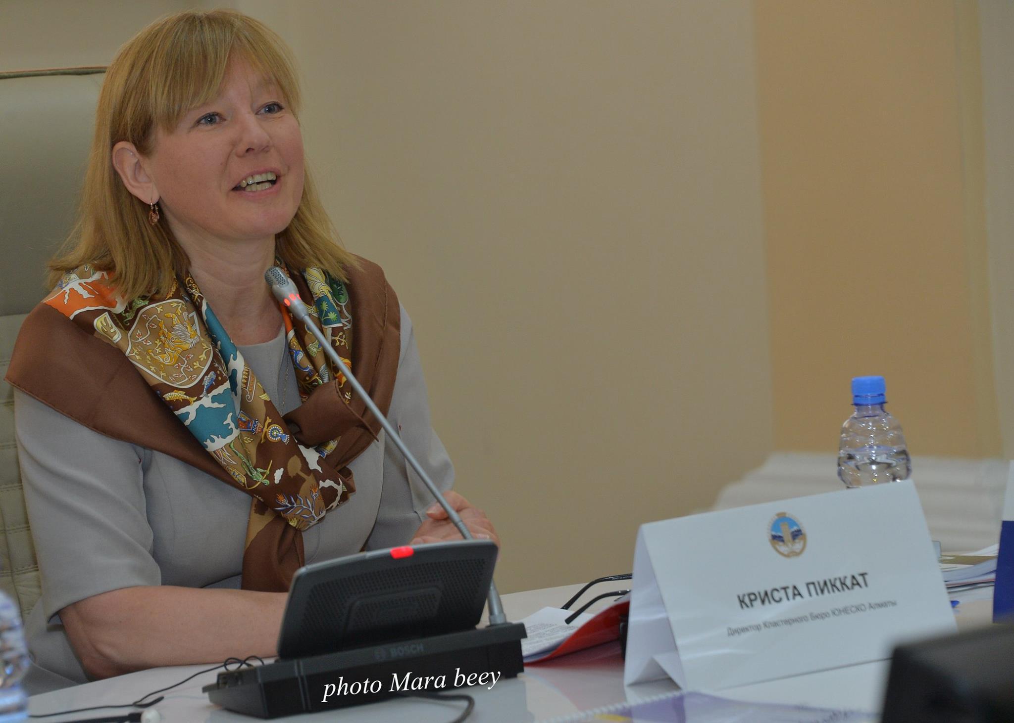 Welcome from Krista Pikkat, UNESCO representative to Kazakhstan, Kyrgyzstan and Tajikistan ©Marat Zhunisbekov